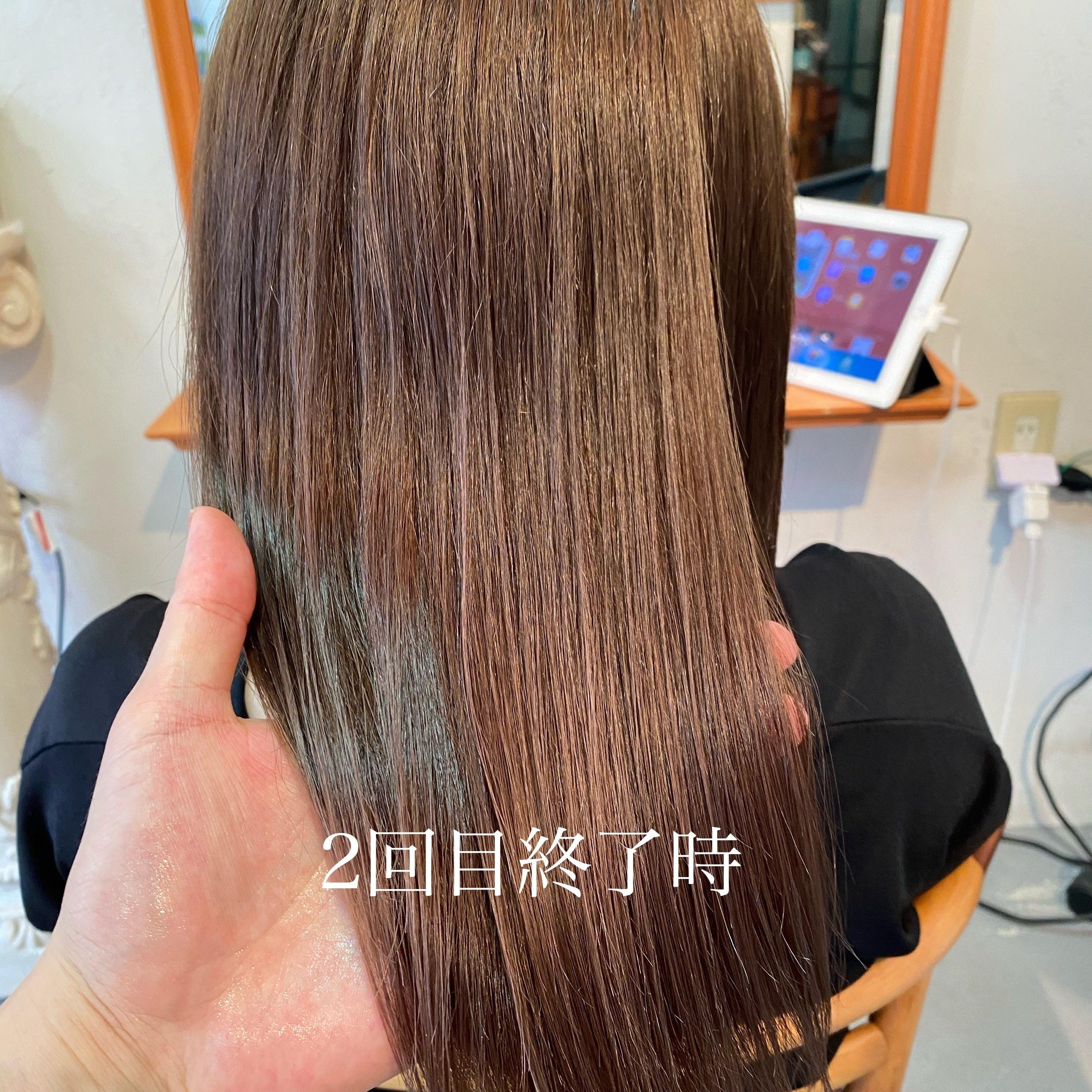 髪質改善トリートメントの施術例