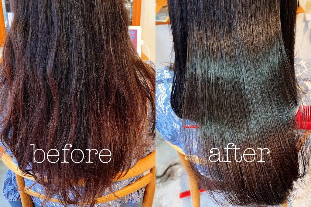 髪質改善カラーの施術例の写真