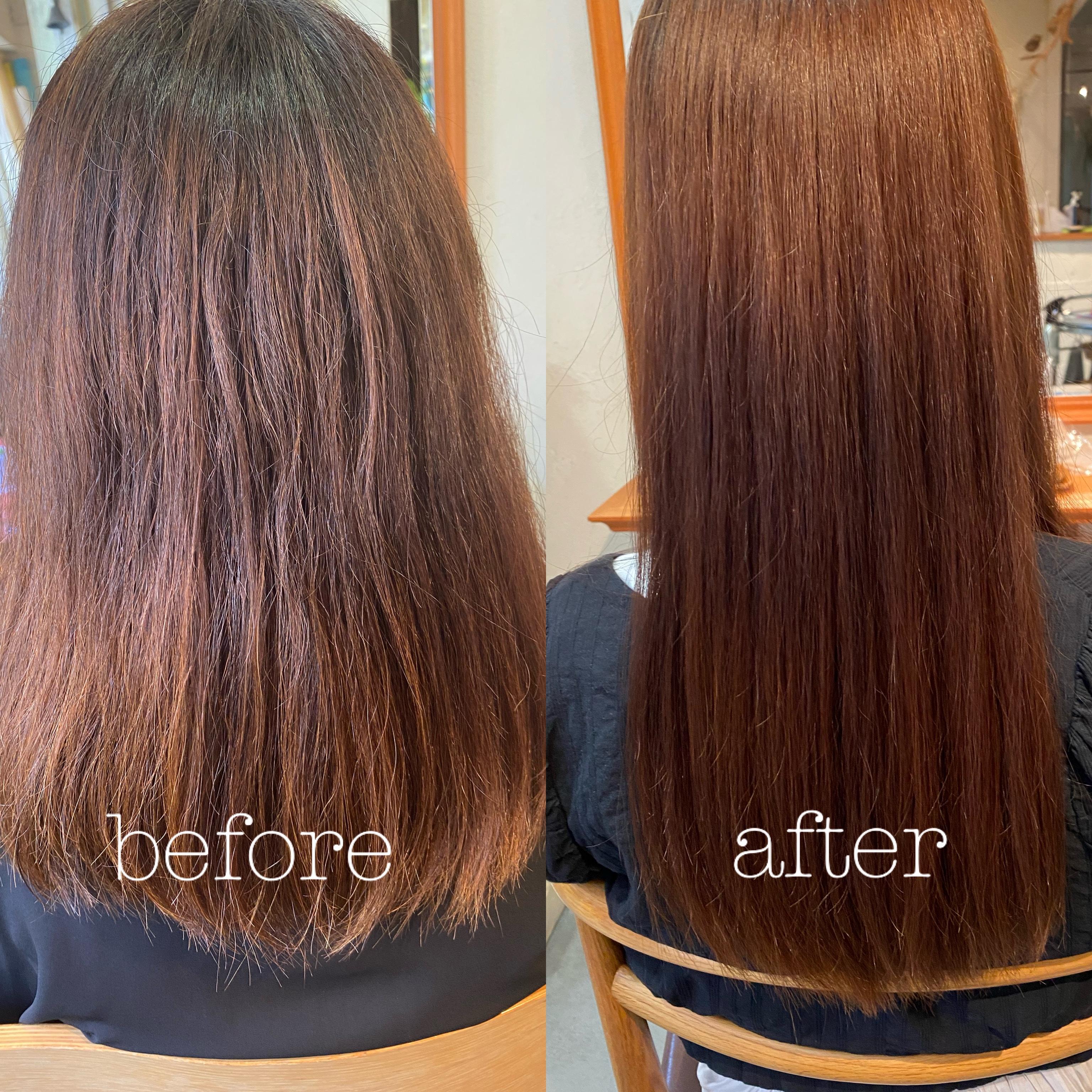 髪質改善トリートメントの一例