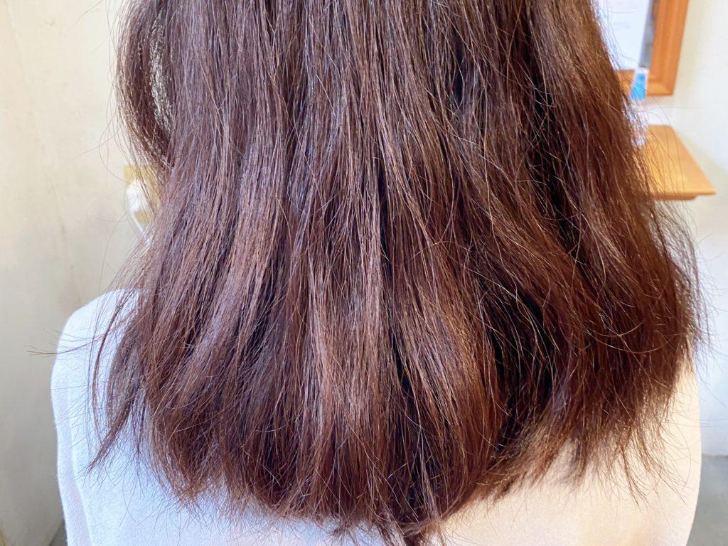 7/26の髪質改善カラーをされる前の、お客様の写真