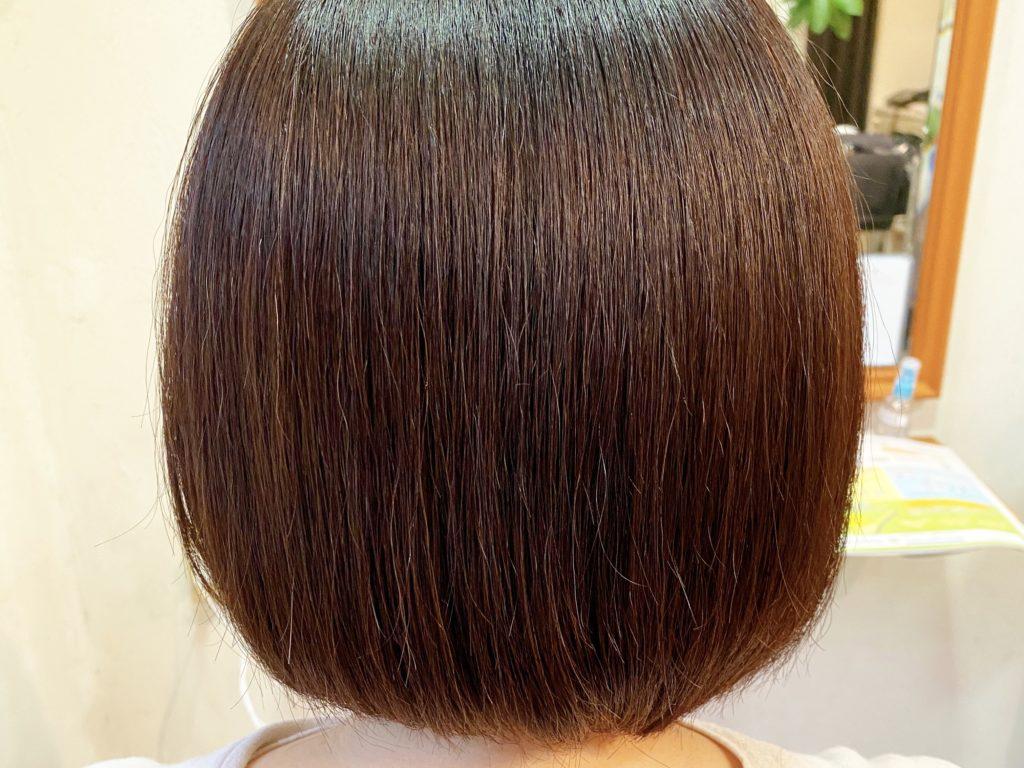 7/26の髪質改善カラーの施術後のお客様の写真