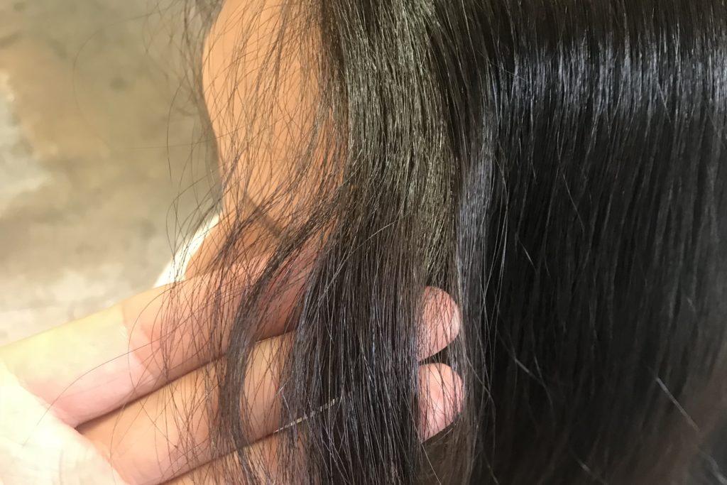 顔まわりにエイジング毛は特に出やすいので、顔まわりのエイジング毛の写真