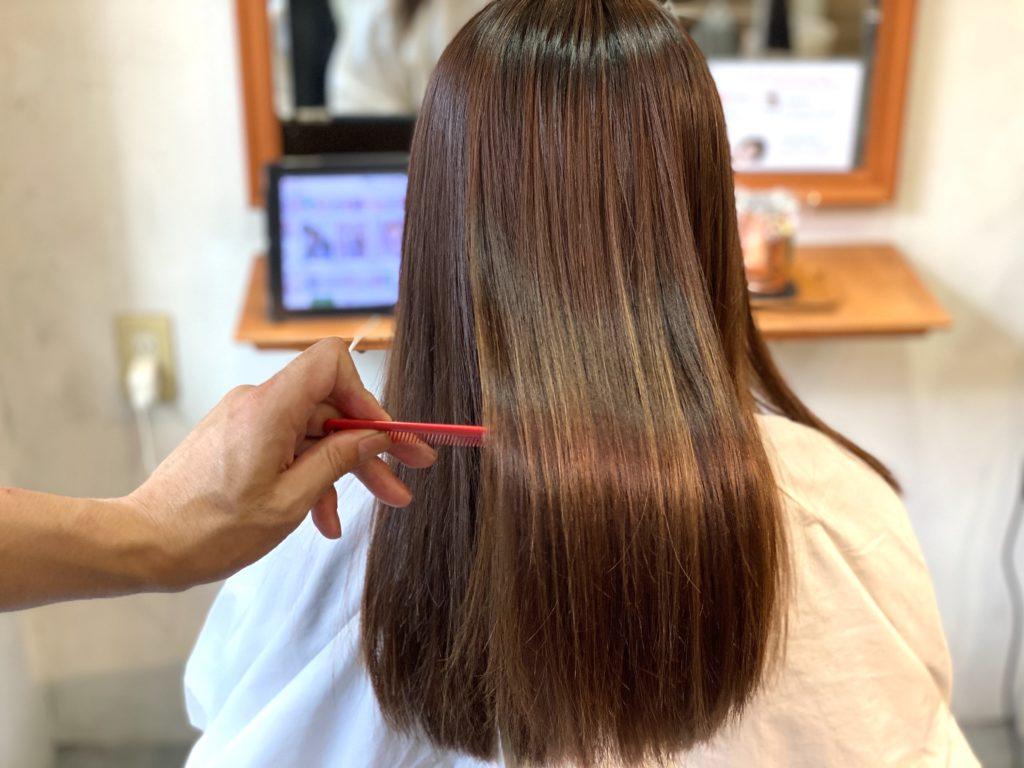 綺麗な髪質改善トリートメントの仕上がりの写真