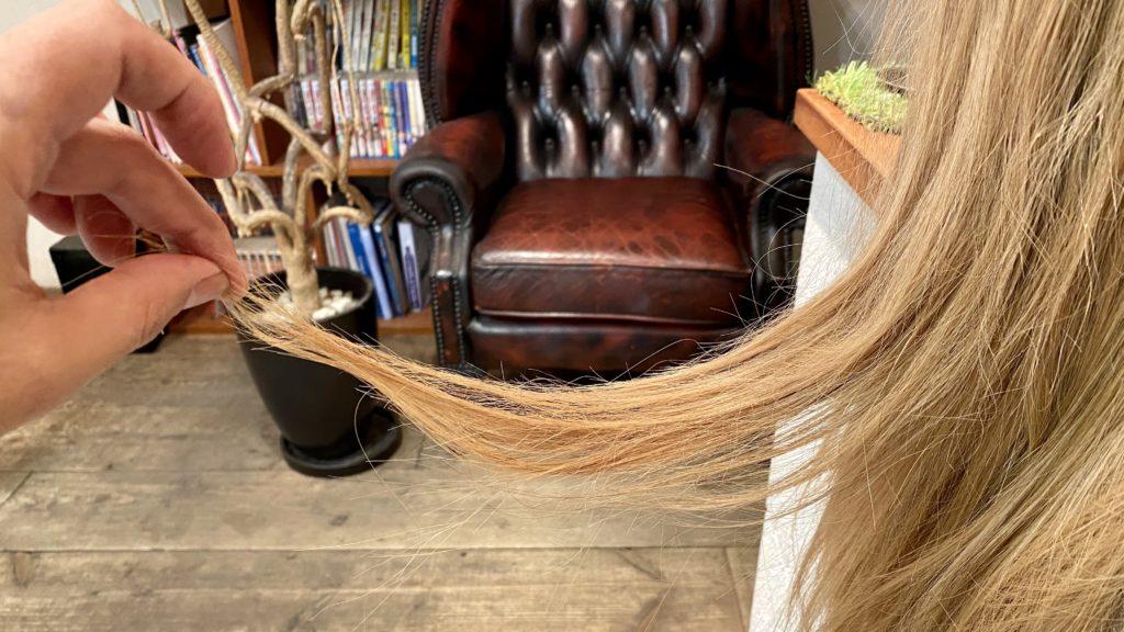 毛先の暑さが2mmの髪の写真