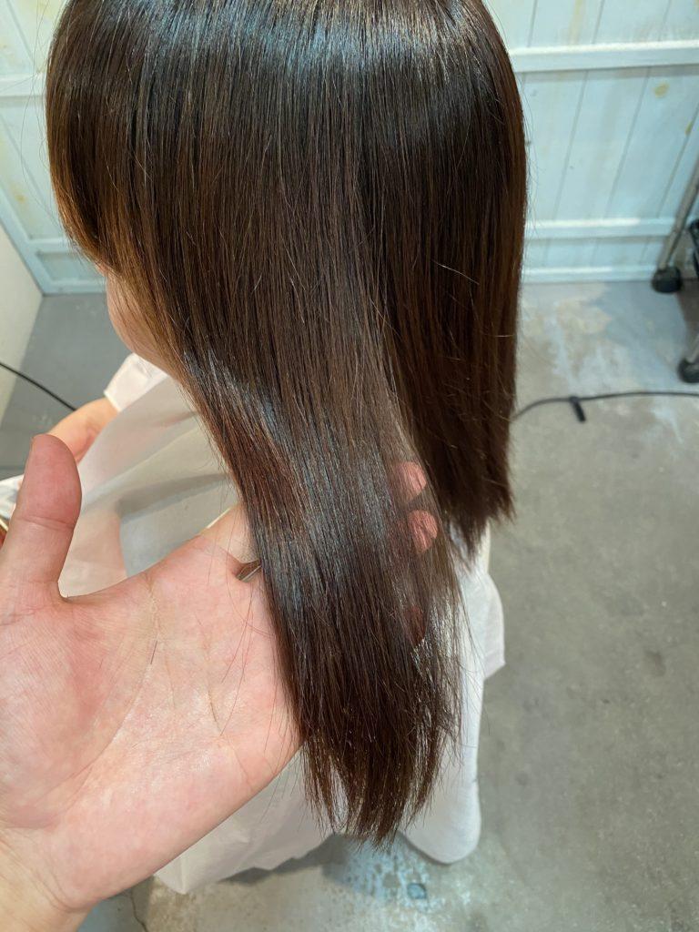 11月12日の髪質改善カラーのbefore