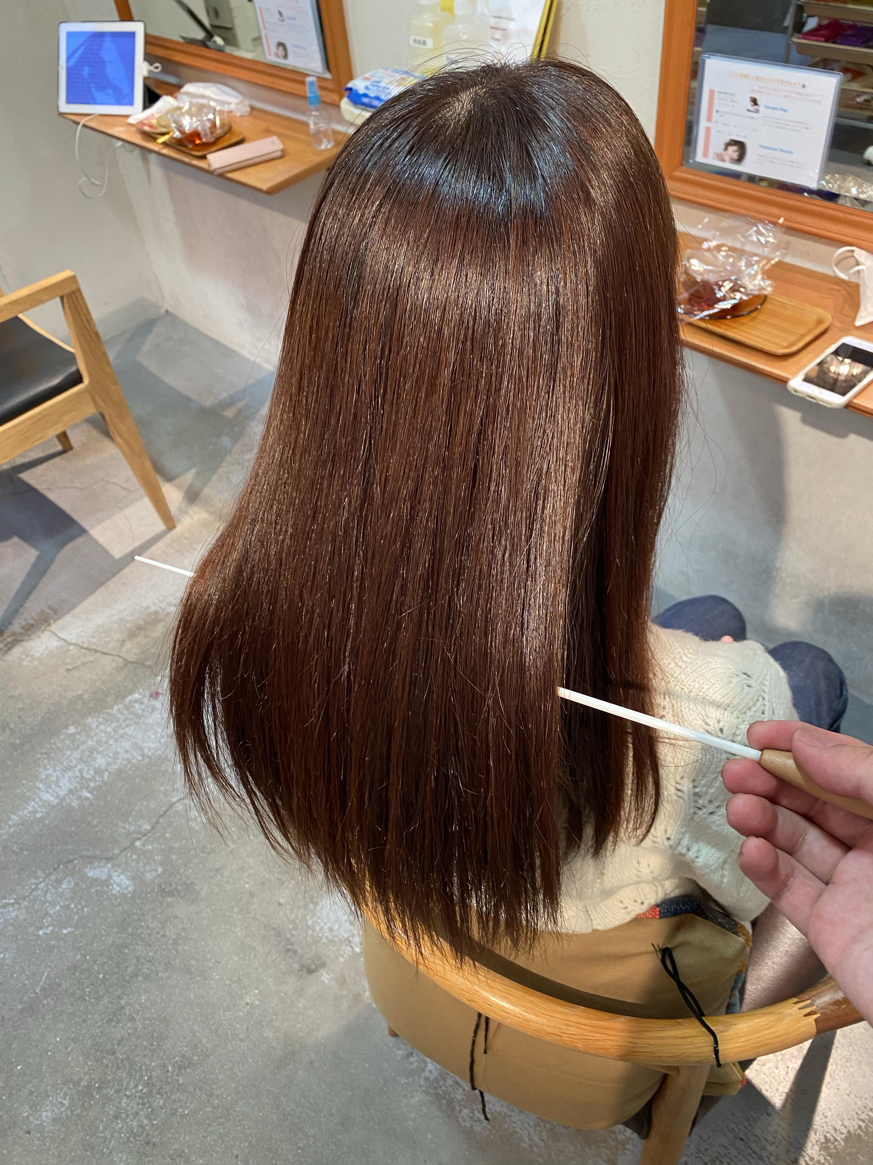 髪質改善トリートメントでパサつきと広がりが解消されたお客様の写真